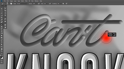 3D Typography text effect