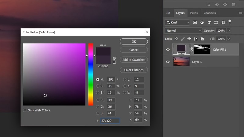 how to add clouds in photoshop