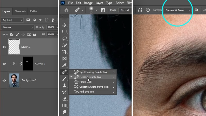 How To Remove Eye Bags in Photoshop