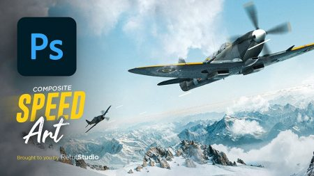 Creating an Aircraft Arial Scene in Photoshop - Speed Art