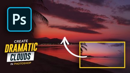 How To Add Dramatic Clouds and Sunset Highlights in Photoshop